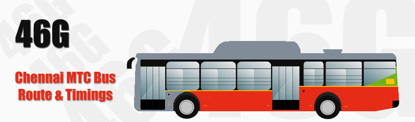 46G Chennai MTC City Bus Route and MTC Bus Route 46G Timings with Bus Stops